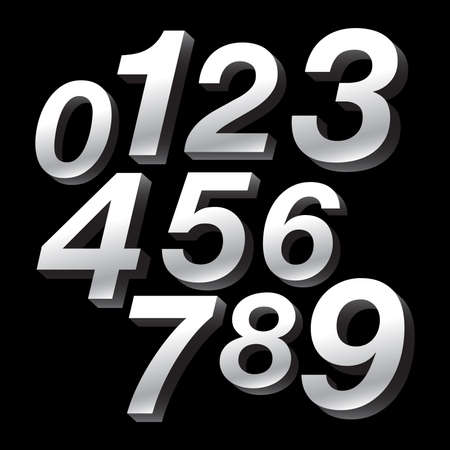 numbers abstract: 3D Block Numbers