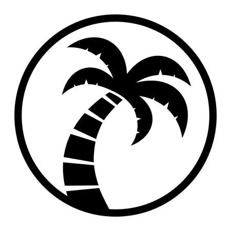 palm tree vector: Palm Tree Vector Icon Illustration