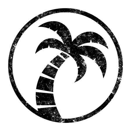 Palm Tree Vector Icon Иллюстрация