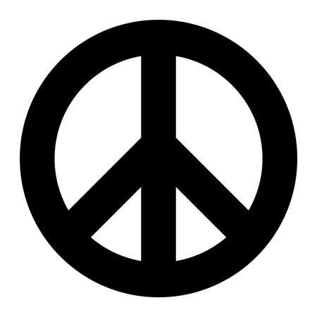 Peace symbol vector icon