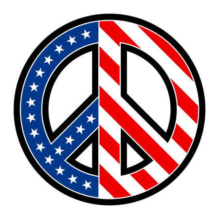 symbol of peace: USA Peace symbol vector icon Illustration