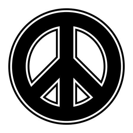 pacificist: Peace symbol vector icon