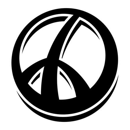 pacifism: Peace symbol vector icon