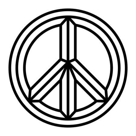 pacifist: Peace symbol vector icon