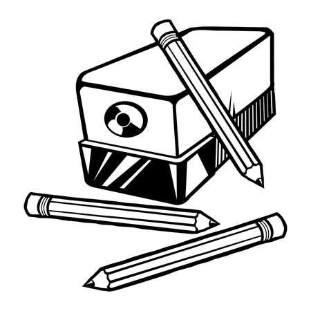Pencil sharpener vector icon Banco de Imagens - 49670731