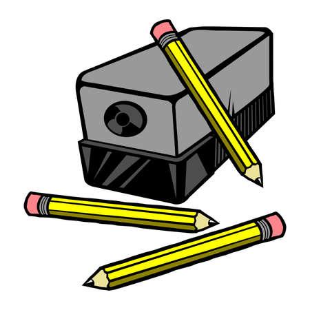 Pencil sharpener vector icon Banco de Imagens - 49670733