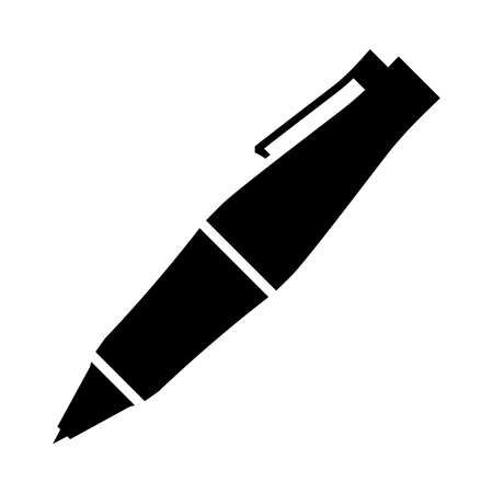 ball pens stationery: Escritura de la pluma del vector del icono Vectores