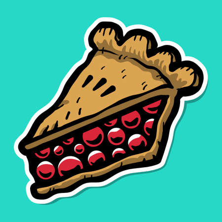 trozo de pastel: Rebanada de la empanada del icono del vector Vectores