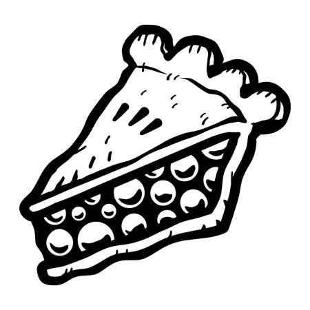 Pie Slice Vector Icon Illustration