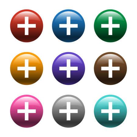 Plus Sign Vector Icon Фото со стока - 49670948