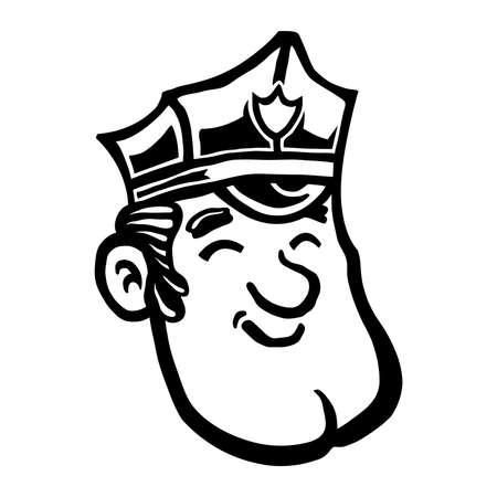 car security: Cartoon Cop Police Officer