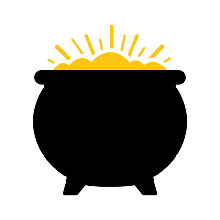 Pot of Gold Vector Icon Illustration