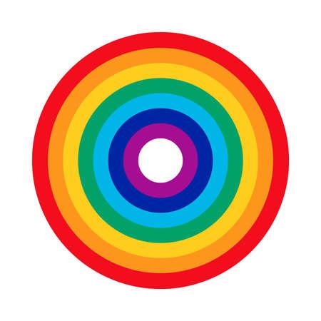 rainbow circle: Rainbow Circle Vector Icon