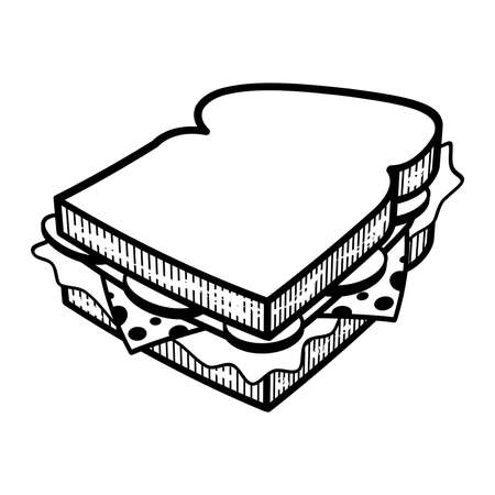 deli meat: Sandwich cartoon vector illlustration