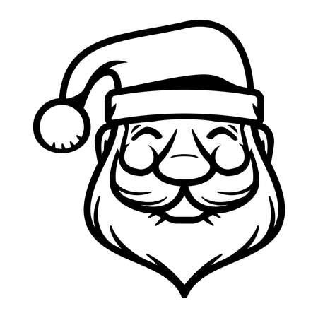 new year's cap: Santa Claus cartoon