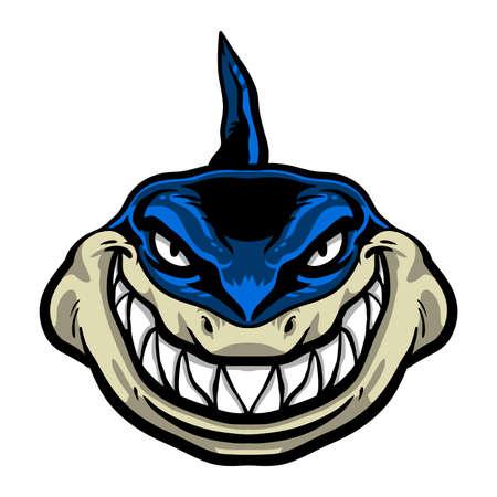 fish tail: Shark vector illustration