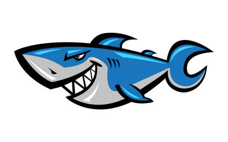 whaling: Shark vector illustration