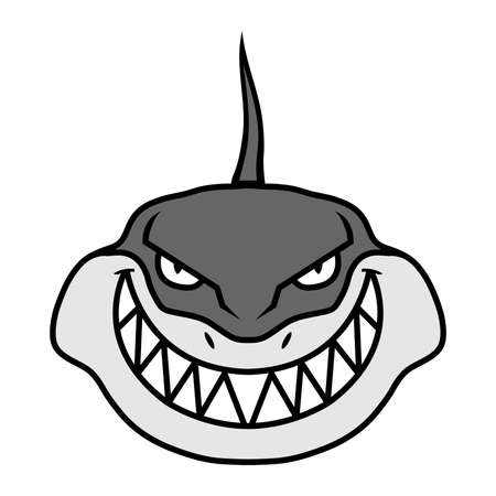 threat: Shark vector illustration