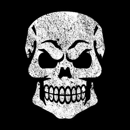 grinning: Skull Vector Icon Illustration