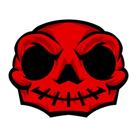 vector skull danger sign: Skull Vector Icon Illustration