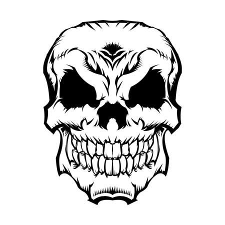 Skull Vector Icon Çizim
