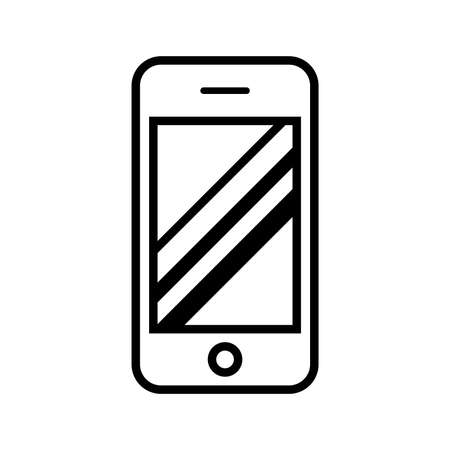 cellphone in hand: Smart phone vector