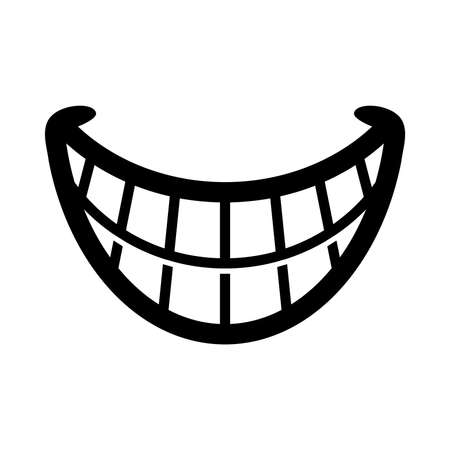 white teeth: Big Cartoon Smile Vector