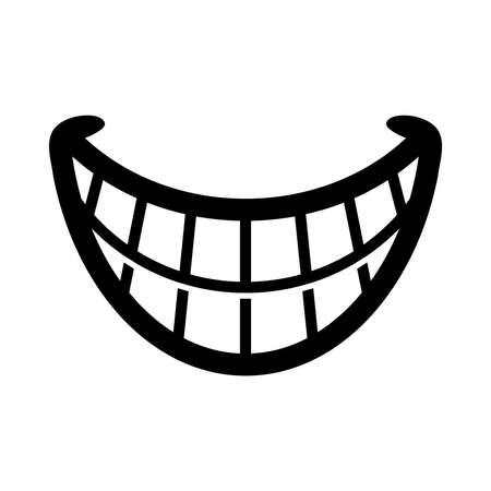 sonriente: Grande historieta Sonrisa vectorial