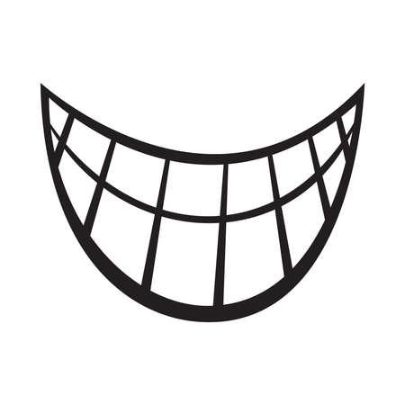 Big Cartoon Smile Vector