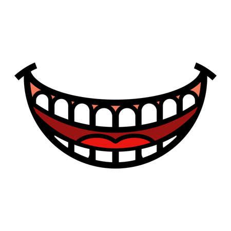 Big Smile Cartoon Vector Stock Illustratie