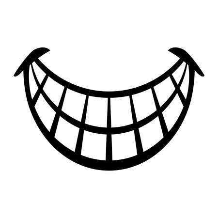 grinning: Big Cartoon Smile Vector