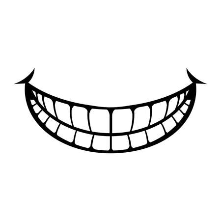 大きな漫画笑顔ベクトル