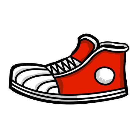 Sneaker cartoon icoon Stock Illustratie