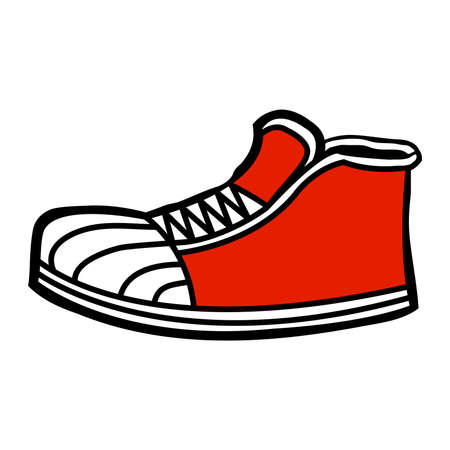 shoelaces: Sneaker cartoon icon Illustration