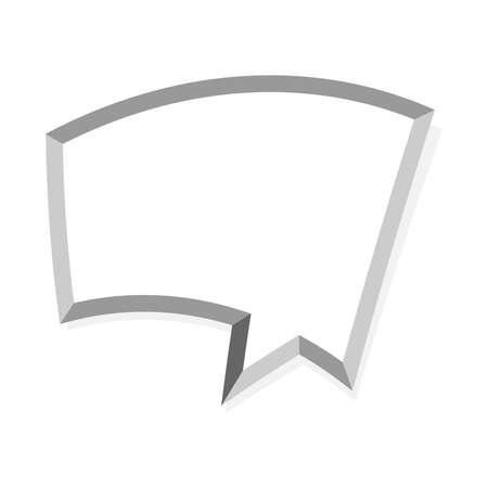 balloon vector: Speech balloon vector icon