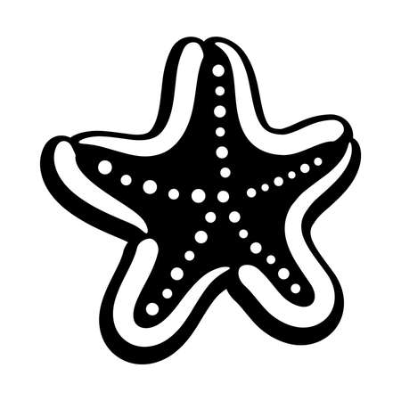 marine aquarium: Starfish Vector Icon Illustration