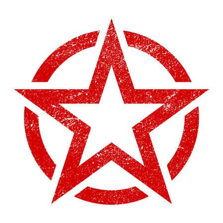 Star circle vector icon  イラスト・ベクター素材