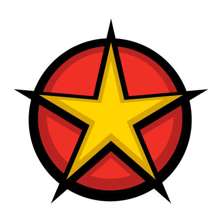 star award: Star circle vector icon Illustration