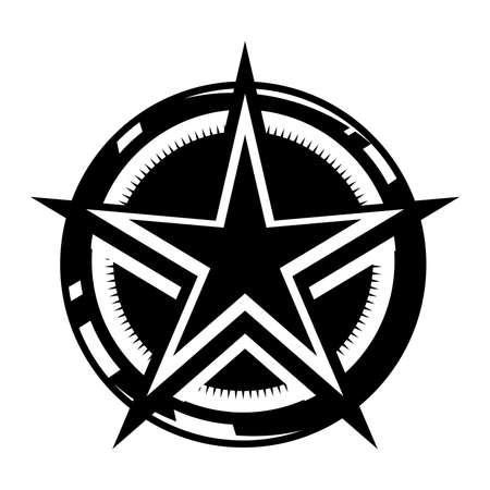Star circle vector icon Illustration