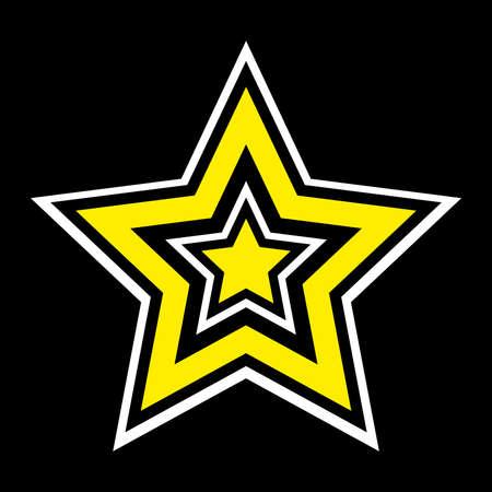 yellow star: Star vector icon