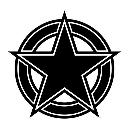 star: Star circle vector icon Illustration