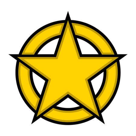Star circle vector icon