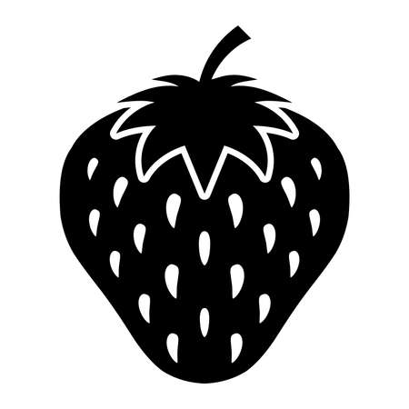 isolated object: Strawberry vector icon Illustration