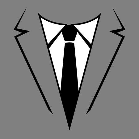 lapel: Suit and tie vector Illustration