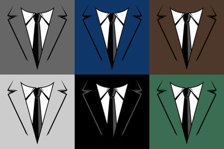 Suit and tie vector 矢量图像