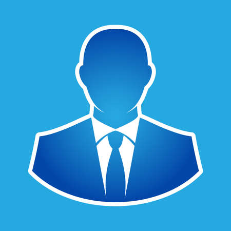 business: Businessman in suit head vector icon