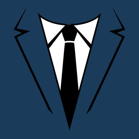 Suit and tie vector 向量圖像