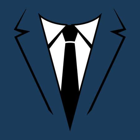Suit and tie vector Vectores