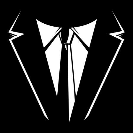 tuxedo: Suit and tie vector Illustration