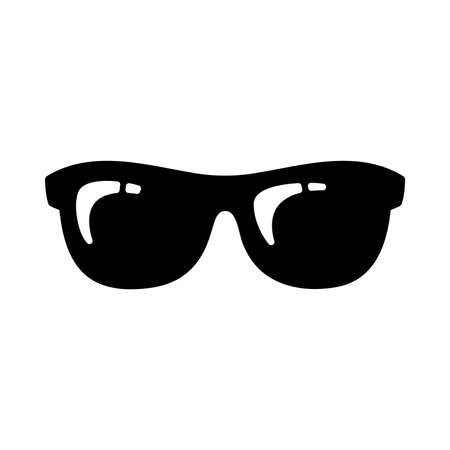 sunglasses reflection: Glasses Vector Icon